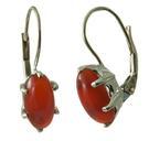 Design 18117: orange carnelian earrings