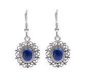 Design 18300: blue lapis lazuli earrings