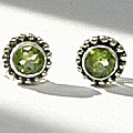 Design 3091: green peridot post, stud, studs earrings