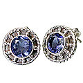 Design 695: blue iolite gothic-medieval earrings