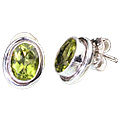 Design 850: green peridot studs earrings