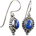 Design 8770: blue lapis lazuli american-southwest, ethnic earrings
