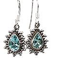 Design 8863: blue blue topaz drop earrings