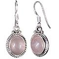 Design 908: pink rose quartz earrings