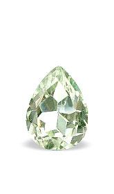 Design 15323: green amethyst pear gems