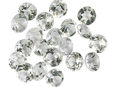 Design 16345: white topaz round gems