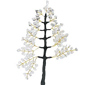 Design 15257: white crystal christmas tree healing