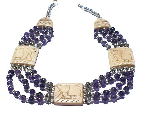 Design 1: purple amethyst chunky necklaces