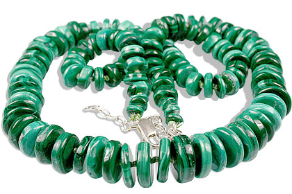 Design 1037: green malachite staff-picks necklaces