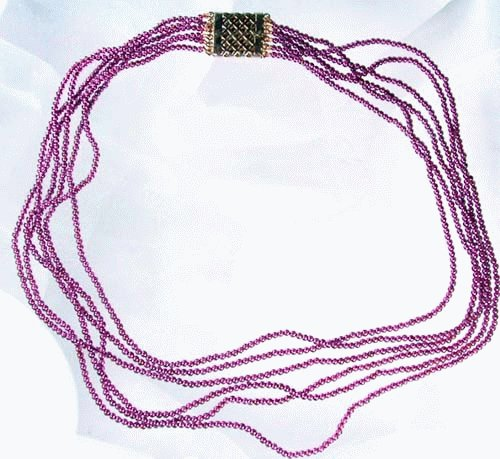 Design 1096: purple garnet multistrand necklaces