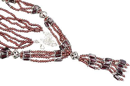 Design 1115: red garnet ethnic necklaces