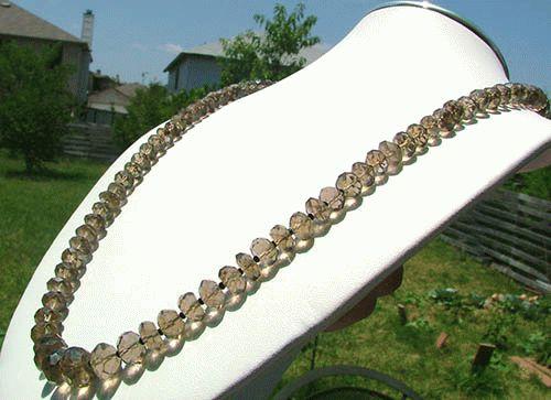 Design 1137: gray smoky quartz necklaces