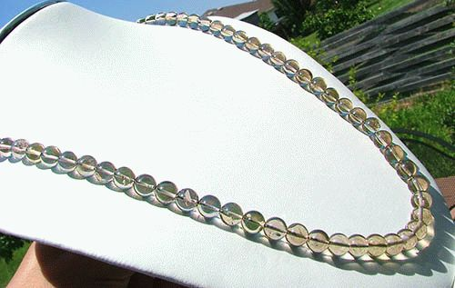 Design 1141: gray quartz necklaces
