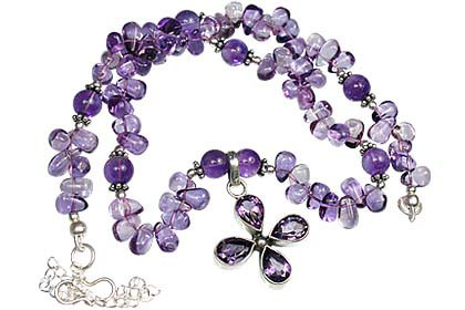 Design 1157: purple amethyst drop necklaces
