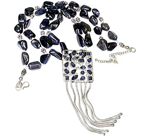 Design 1158: blue iolite multistrand necklaces
