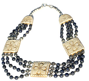 Design 119: blue sodalite chunky necklaces