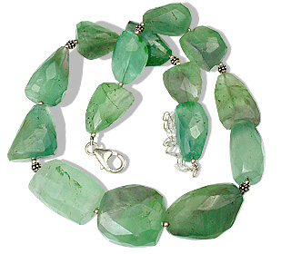 Design 1214: blue,green fluorite chunky necklaces