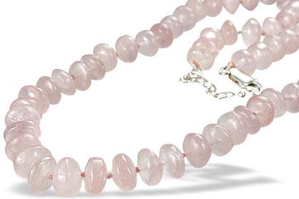 Design 1241: pink rose quartz necklaces