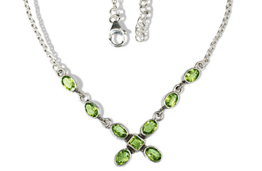 Design 12638: green peridot christmas, contemporary, wedding necklaces
