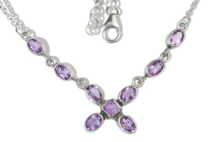 Design 12639: purple amethyst contemporary necklaces