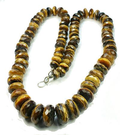 Design 12870: brown tiger eye necklaces