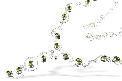 Design 1291: green peridot necklaces