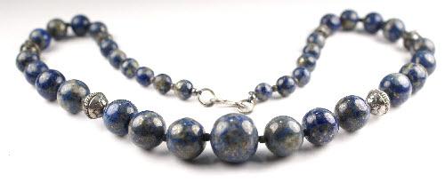Design 1311: blue lapis lazuli contemporary necklaces