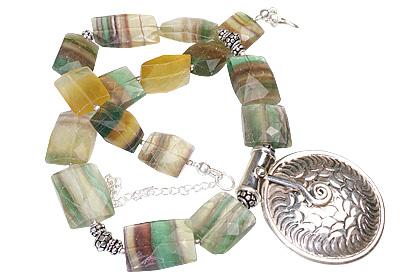 Design 1314: blue,green fluorite choker necklaces