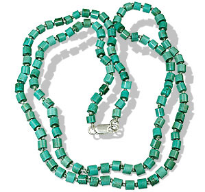 Design 1391: blue,green turquoise necklaces
