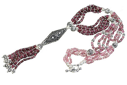 Design 14070: pink tourmaline classic necklaces