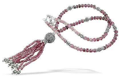 Design 14072: pink tourmaline classic necklaces