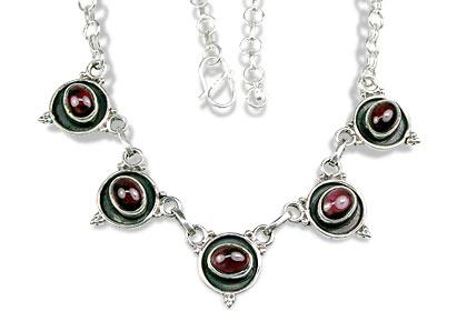 Design 1408: red garnet necklaces