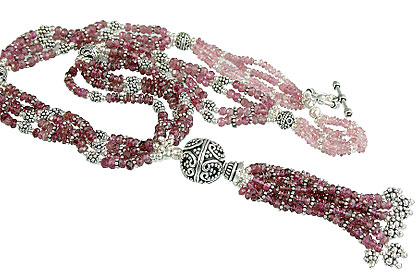 Design 14114: pink tourmaline classic necklaces