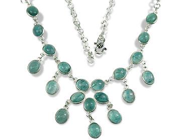 Design 1419: blue,green fluorite necklaces