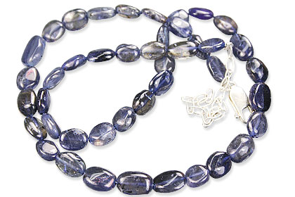 Design 143: blue iolite simple-strand necklaces