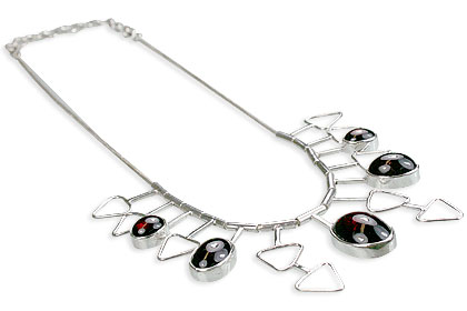 Design 14374: red garnet necklaces