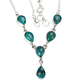 Design 14388: blue,green turquoise necklaces