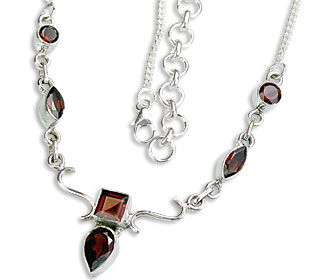 Design 14407: red garnet necklaces