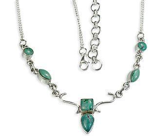 Design 14408: blue,green turquoise contemporary necklaces