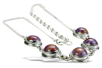 Design 14432: purple mohave necklaces