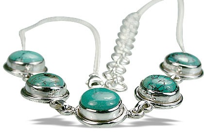Design 14434: green turquoise contemporary necklaces