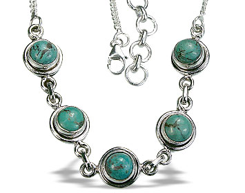 Design 14435: green turquoise contemporary necklaces