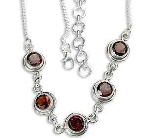 Design 14436: red garnet necklaces