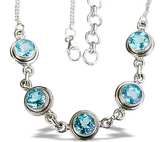 Design 14437: blue blue topaz contemporary necklaces