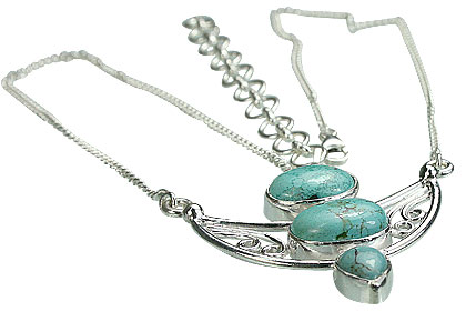 Design 14441: green turquoise pendant necklaces