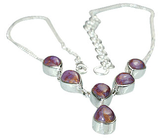 Design 14446: purple mohave drop necklaces