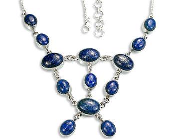 Design 14450: blue lapis lazuli necklaces