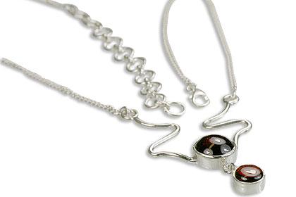 Design 14453: red garnet necklaces