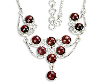 Design 14456: red garnet necklaces