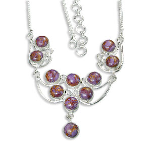 Design 14459: purple mohave necklaces